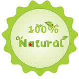 Natural sign with decorated letters Stock Photography