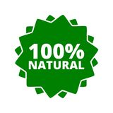 100% Natural Sign Icon Button. Vector icon Stock Photos