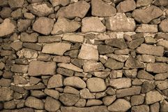 Natural simple stone wall close-up texture wallpaper background royalty free stock photography