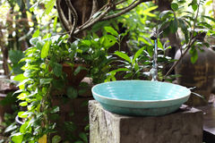 Natural sinks. In the garden Stock Image