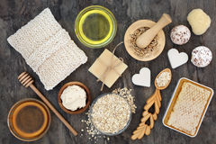 Natural Skincare Ingredients Royalty Free Stock Images