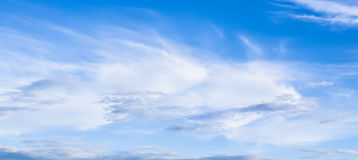 Natural sky background and radiating rays in a blue sky with clouds. That suitable for background, backdrop, wallpaper, display an Royalty Free Stock Photography