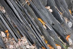 Natural Slates Stacked Royalty Free Stock Photo