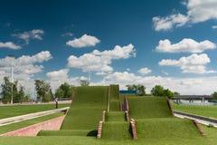 Natural slide. A natural slide made of grass Stock Photos