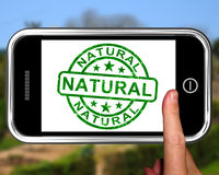 Natural On Smartphone Showing Untreated Products Royalty Free Stock Image