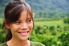 Natural smile outdoors Royalty Free Stock Image