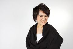 Natural smily woman. Asian Woman with natural smily face Royalty Free Stock Image