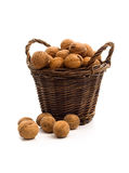 Natural snack. A tidy full of nuts Royalty Free Stock Photography