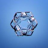 Natural snowflake macro Stock Images