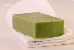 Natural soap bar. Royalty Free Stock Photography