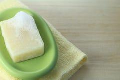 Natural soap. Bar on a  dish Stock Photography