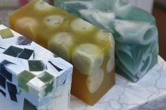 Natural soap of color soap Royalty Free Stock Image