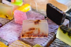 Natural  soap. Natural soap of different colors Stock Photo