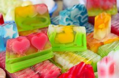 Natural  soap. Natural soap of different colors Stock Images