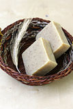 Natural soap with herbs Royalty Free Stock Images