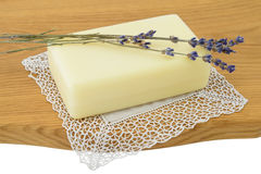 Natural soap with lavender Royalty Free Stock Images