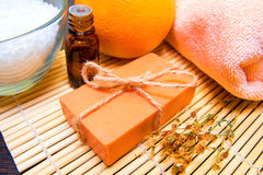 Natural soap, spa concept Stock Images