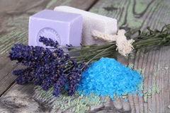 Natural soap and spa Royalty Free Stock Images