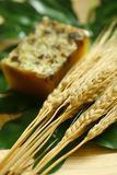 Natural soap and straw Stock Images