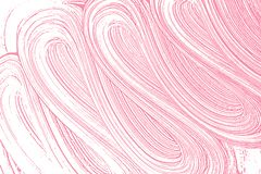 Natural soap texture. Alluring bright pink foam trace background. Artistic actual soap suds. Cleanliness, cleanness, purity concept. Vector illustration Stock Photos