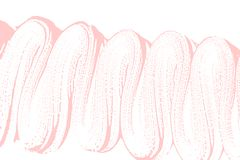 Natural soap texture. Appealing millenial pink foam trace background. Artistic alive soap suds. Cleanliness, cleanness, purity concept. Vector illustration Stock Image