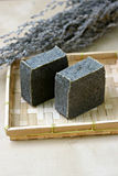 Natural soap with wormwood Stock Image