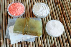 Natural soaps Stock Image