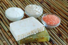Natural soaps Stock Images