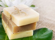 Natural soaps Stock Photo