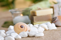 Natural soaps Stock Photography
