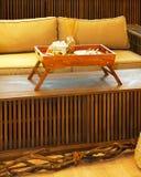 Natural sofa detail Stock Images