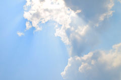 Free Natural Soft Clouds Pattern And Sunshine Ray On Blue Sky Background Stock Photos - 52796203