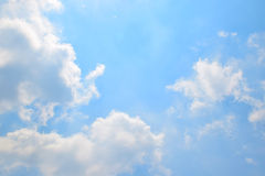 Natural soft clouds pattern on blue sky background Stock Photos