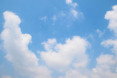 Natural soft clouds pattern on blue sky background Stock Photo