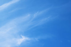 Natural soft clouds pattern on blue sky background Stock Photography