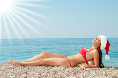 Natural solarium on the beach. Give your favorite summer Stock Image