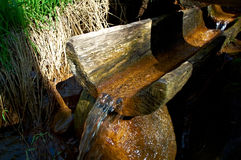 Natural source of mineral curative water. Stock Photos