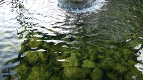 Natural source of spring water background