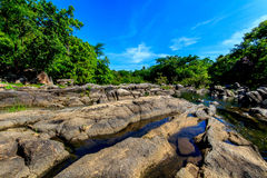 Natural sources. Are called whitewater rapids orange cat Ratchaburi , Thailand royalty free stock images