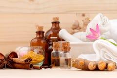 Natural Spa συστατικά Aromatherapy και Natural Spa θέμα στο W Στοκ Φωτογραφίες