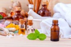 Natural Spa συστατικά Aromatherapy και Natural Spa θέμα Στοκ Εικόνες