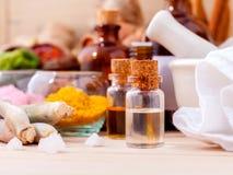 Natural Spa συστατικά Aromatherapy και Natural Spa θέμα Στοκ φωτογραφίες με δικαίωμα ελεύθερης χρήσης