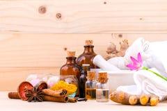 Natural Spa συστατικά Aromatherapy και Natural Spa θέμα Στοκ Φωτογραφίες
