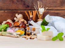 Natural Spa συστατικά Aromatherapy και Natural Spa θέμα Στοκ εικόνα με δικαίωμα ελεύθερης χρήσης