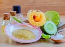 Natural Spa Ingrediënten Stock Foto's