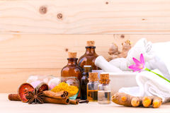 Natural Spa Ingredients Aromatherapy and Natural Spa theme Stock Photos