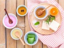 Natural Spa Ingrediënten Stock Afbeeldingen