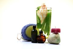 Natural spa lotions Royalty Free Stock Image