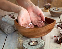 Natural spa manicure  setting Royalty Free Stock Photo