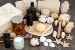 Natural Spa Products and Accessories Stock Photo